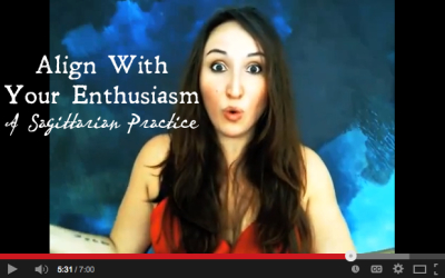 Aligning with Your Enthusiasm: A Sagittarian + Waxing Practice
